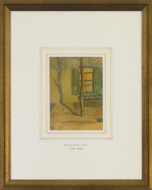 "George Elbert Burr, ""Untitled (Exterior with Tree)"", pastel, c. 1915 for sale purchase consign auction denver Colorado art gallery museum"