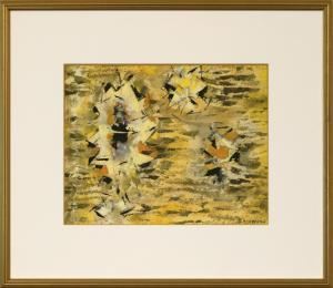 """Ward Lockwood, """"Untitled"""", mixed media, c. 1960 for sale purchase consign auction denver Colorado art gallery museum"""