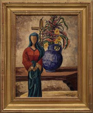 Howard Schleeter Howard Behling Schleeter Madonna of the Picture 1939 oil painting fine art for sale purchase buy sell auction consign denver colorado art gallery museum