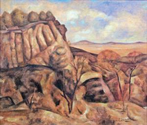 "John Edward Thompson, ""Untitled (Colorado Mesa)"", oil, c. 1935"