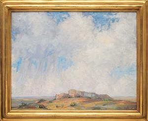 "Charles Ragland Bunnell, ""Untitled (Colorado)"", mixed media, 1926 painting fine art for sale purchase buy sell auction consign denver colorado art gallery museum"