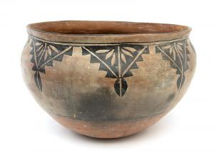historical pottery dough bowl cochiti pueblo 19th century Native American Indian antique vintage art for sale purchase auction consign denver colorado art gallery museum