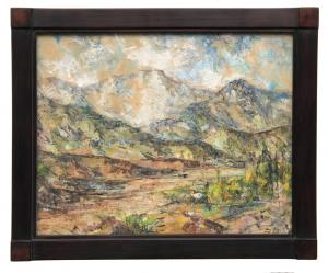 "Charles Ragland Bunnell, ""Untitled (Pike's Peak, Colorado)"", oil, 1961 painting for sale purchase consign auction denver Colorado art gallery museum"