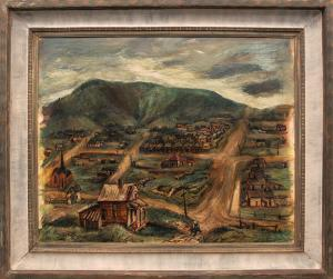 "Suzanne Schweig Martyl, ""Victor, Colorado"", oil, 1942 for sale purchase consign auction denver Colorado art gallery museum"