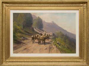 "Harvey Otis Young, ""Untitled"", mixed media, 19th century for sale purchase consign auction denver Colorado art gallery museum"