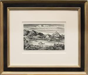 """Frederick Shane, """"Farm in the Rockies (Colorado)"""", lithograph, 1938 for sale purchase consign auction denver Colorado art gallery museum"""