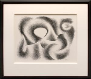 "Herbert Bayer, ""Convolution"", lithograph, 1948 for sale purchase"
