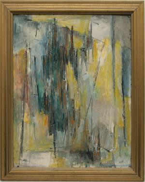 "Charles Ragland Bunnell, ""Untitled"" 1958 oil painting fine art for sale purchase buy sell auction consign denver colorado art gallery museum"