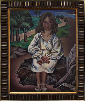 """Peppino Mangravite, """"Dora"""", oil, 1928 painting fine art for sale purchase buy sell auction consign denver colorado art gallery museum"""
