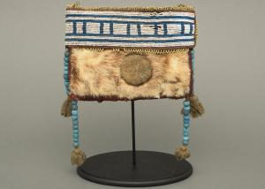 Classic period beaded hide pouch athapaskan Native American Indian antique vintage art for sale purchase auction consign denver colorado art gallery museum