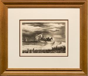 """Geroges L. Schreiber, """"In Tennessee"""", lithograph for sale purchase consign auction denver Colorado art gallery museum"""