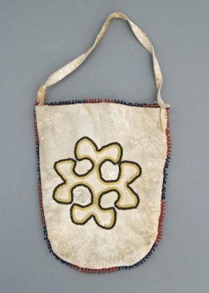 Pouch, circa 1900 beaded 19th century Native American Indian antique vintage art for sale purchase auction consign denver colorado art gallery museum