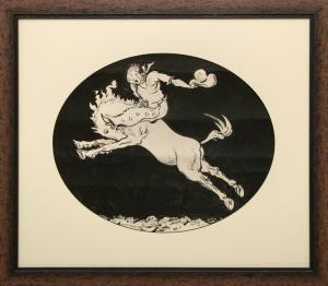 Walt Kuhn Sun Valley Rodeo Idaho art painting drawing poster