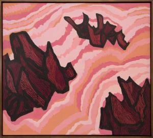 "Margo Hoff, ""Jagged Sea (Ireland)"", acrylic, circa 1968 painting for sale purchase consign auction denver Colorado art gallery museum"