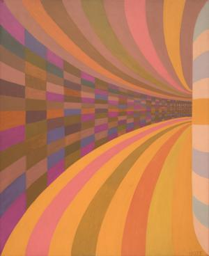 "Margo Hoff, ""Untitled III"", oil, circa 1979 painting for sale purchase auction consign denver colorado art gallery museum"