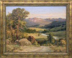 "Robert W. Wood, ""Estes Park, Colorado"", oil, circa 1935 painting for sale purchase consign auction denver Colorado art gallery museum"