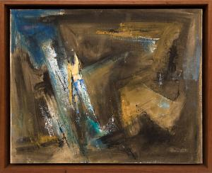 """Charles Ragland Bunnell, """"Untitled"""", oil, 1963 for sale purchase consign auction denver Colorado art gallery museum"""