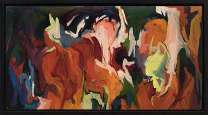 "Nancy Harris Ocrant, ""Untitled Abstract"", oil, circa 1955 painting fine art for sale purchase buy sell auction consign denver colorado art gallery museum"