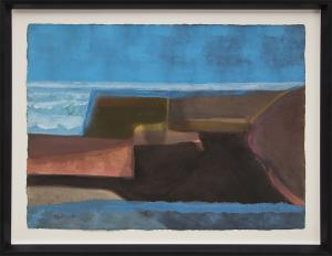 "Lynn R. Wolfe, ""Untitled"", watercolor for sale purchase consign auction denver Colorado art gallery museum"