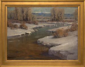 "Rick Howell, ""Untitled (Afternoon Light, Colorado)"", oil painting fine art for sale purchase buy sell auction consign denver colorado art gallery museum"