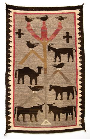Navajo rug pictorial weaving 19th century Native American Indian antique vintage art for sale purchase auction consign denver colorado art gallery museum