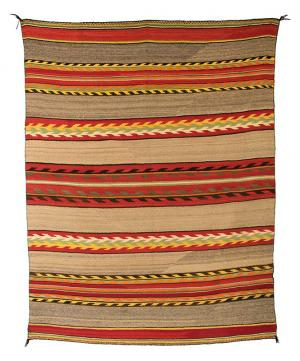 Transitional Blanket, Navajo pan reservation textile weaving rug 19th century Native American Indian antique vintage art for sale purchase auction consign denver colorado art gallery museum