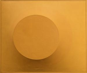 """Angelo Di Benedetto, """"Orange on Orange #5"""", acrylic, July 1966 painting fine art for sale purchase buy sell auction consign denver colorado art gallery museum"""