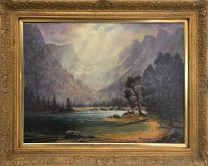 """Jerry Malzahn, """"After the Storm (Dream Lake, Rocky Mountain National Park)"""", oil painting fine art for sale purchase buy sell auction consign denver colorado art gallery museum"""