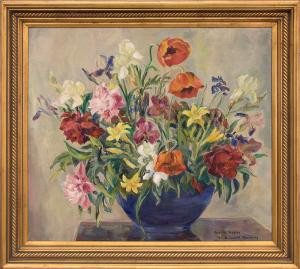 """Elisabeth Spalding, """"Oriental Poppies"""", oil painting fine art for sale purchase buy sell auction consign denver colorado art gallery museum"""
