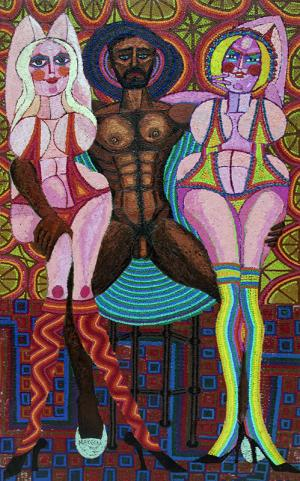 """Edward Marecak, """"Zeus, Venus and Hera"""", oil, 1982 painting fine art for sale purchase buy sell auction consign denver colorado art gallery museum"""