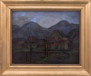 """Francis Drexel Smith, """"Evening (Colorado)"""" circa 1940 oil painting fine art for sale purchase buy sell auction consign denver colorado art gallery museum"""