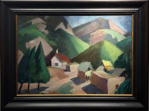 "Anna Katharine Skeele, ""Arroyo Seco, NM"", oil painting fine art for sale purchase buy sell auction consign denver colorado art gallery museum"