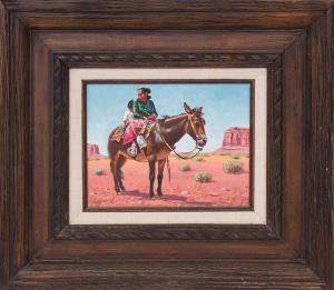 """Phil Hayward, """"Navajo Country"""", oil painting fine art for sale purchase buy sell auction consign denver colorado art gallery museum"""