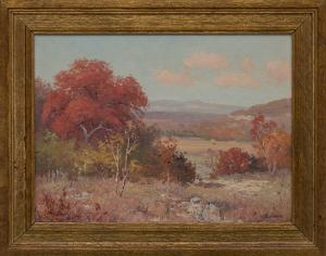 "Porfirio Salinas, ""Untitled (Autumn Landscape)"", oil, circa 1936 impressionist painting fine art for sale purchase buy sell auction consign denver colorado art gallery museum"