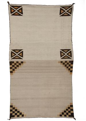 Vintage Navajo double saddle blanket textile weaving rug  19th century Native American Indian antique vintage art for sale purchase auction consign denver colorado art gallery museum