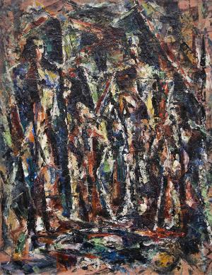 charles bunnell sacred family abstract expressionist oil painting fine art for sale purchase buy sell auction consign denver colorado art gallery museum
