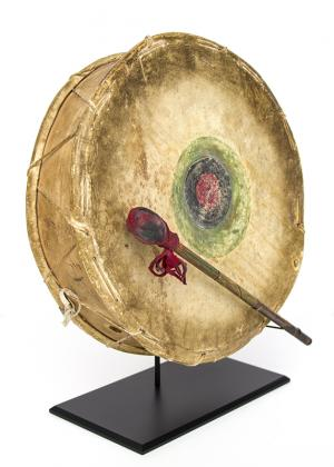Drum & Beater Sioux Plains  19th century Native American Indian antique vintage art for sale purchase auction consign denver colorado art gallery museum