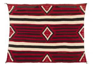 Vintage Navajo Chiefs blanket third phase 3rd pattern 19th century Native American Indian antique vintage art for sale purchase auction consign denver colorado art gallery museum