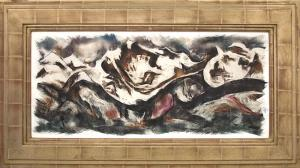 "Howard Norton Cook, ""Merino Valley"", mixed media, circa  1950 painting fine art for sale purchase buy sell auction consign denver colorado art gallery museum"