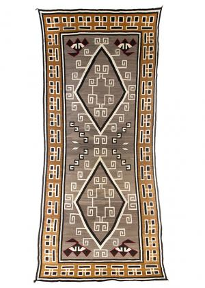 Vintage Navajo Trading Post Rug, Crystal ganado, circa 1910-1920 19th century Native American Indian antique vintage art for sale purchase auction consign denver colorado art gallery museum
