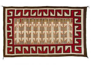 Vintage Navajo Yei Rug pictorial weaving yeibichai corn 1930s 19th century Native American Indian antique vintage art for sale purchase auction consign denver colorado art gallery museum