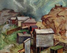 "George Vander Sluis, ""Storm over Victor"", oil, 1946"