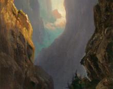 "Helen Henderson Chain, ""Royal Gorge"", oil, c. 1875"