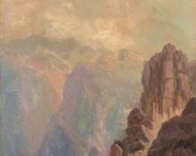 "Helen Henderson Chain, ""Mount of the Holy Cross"", oil, c. 1875"