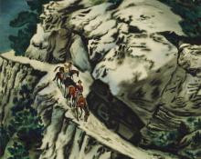 "Vance Hall Kirkland, ""Mountain Trail"", watercolor, 1942"