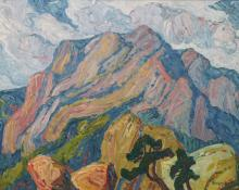 "Sven Birger Sandzen, ""In the Mountains, Manitou Springs, Colorado"", oil on canvas, 1920 painting for sale"