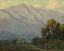 "Edgar Alwin Payne, ""View from Arroyo Seco"", oil, c. 1920"