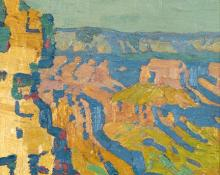 "Sven Birger Sandzen, ""Grand Canyon"", oil on canvas, c. 1915"