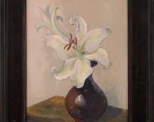 """Jon Blanchette, """"Untitled (Still Life with Lilies)"""", oil painting fine art for sale purchase buy sell auction consign denver colorado art gallery museum"""
