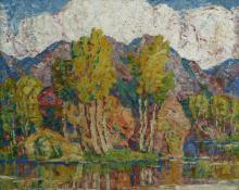 "Sven Birger Sandzen, ""Aspens"", oil on canvas, 1925"